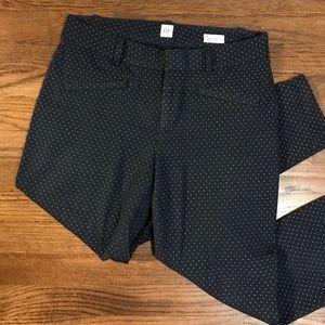 GAP Navy Polka Dot Pant // size 6